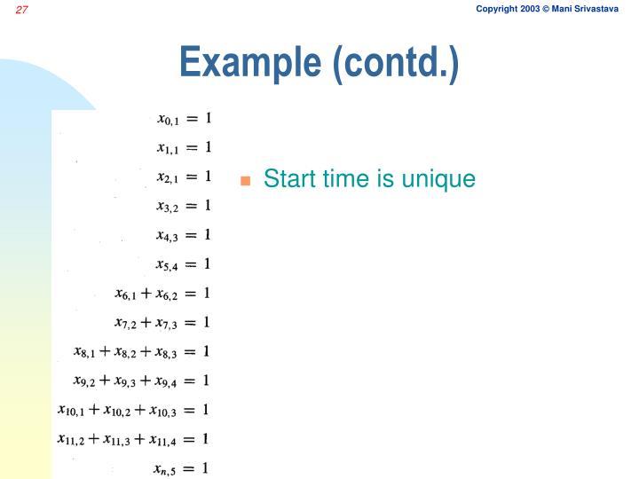 Example (contd.)