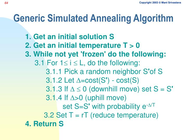 Generic Simulated Annealing Algorithm