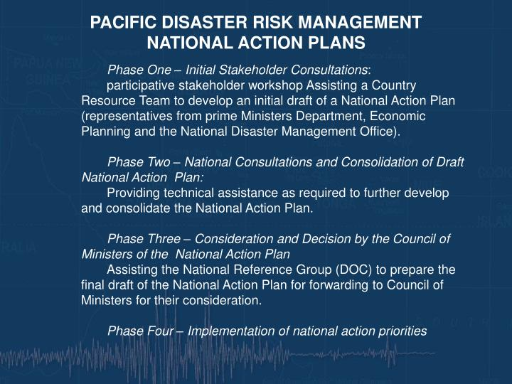 PACIFIC DISASTER RISK MANAGEMENT