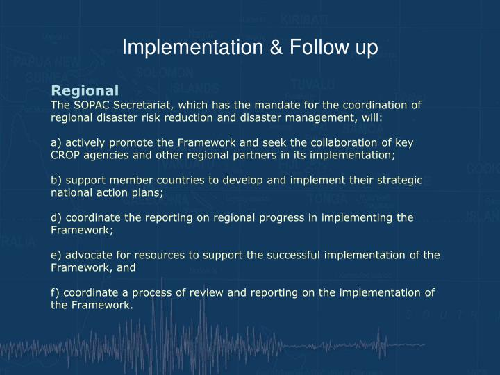 Implementation & Follow up