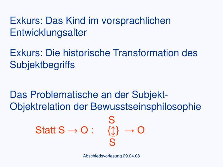 Das Problematische an der Subjekt-Objektrelation der Bewusstseinsphilosophie