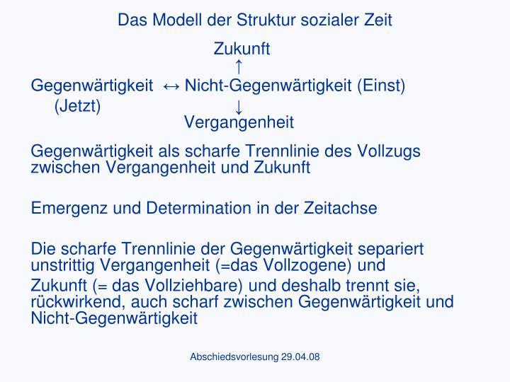 Das Modell der Struktur sozialer Zeit