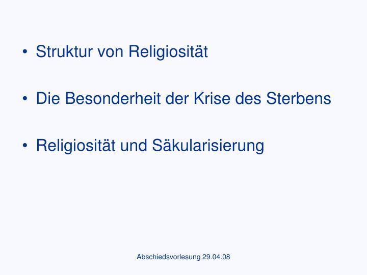 Struktur von Religiosität