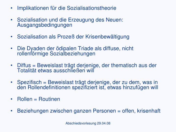 Implikationen für die Sozialisationstheorie
