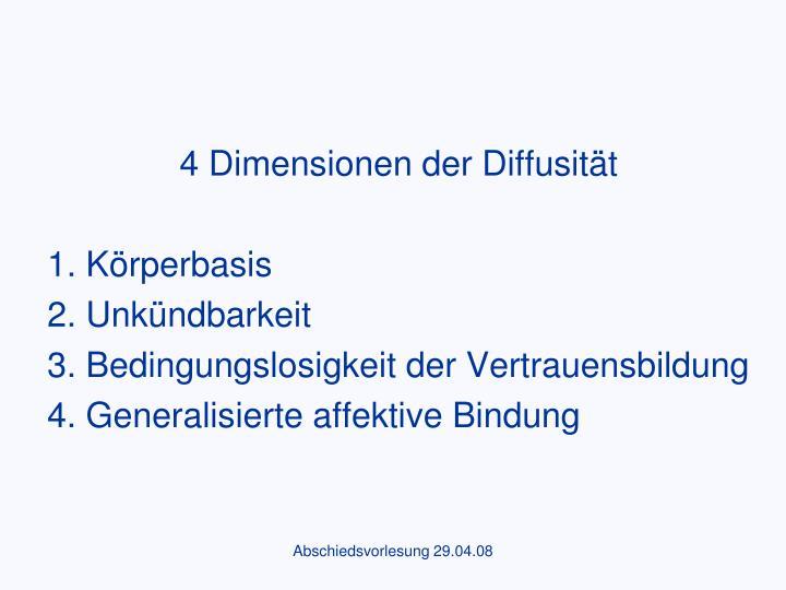 4 Dimensionen der Diffusität
