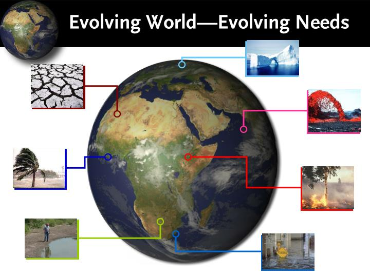 Evolving World—Evolving Needs
