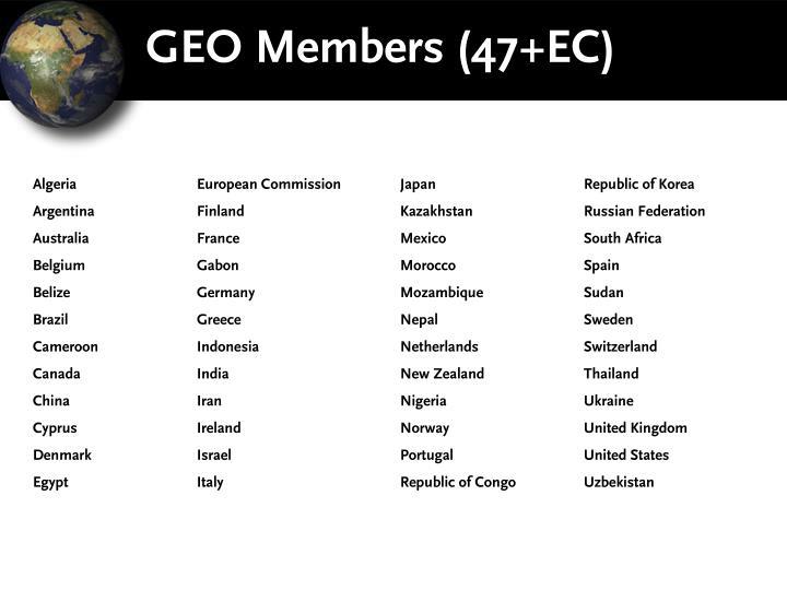 GEO Members (47+EC)