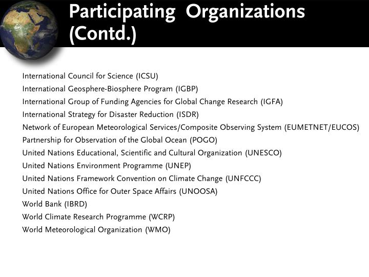 Participating  Organizations