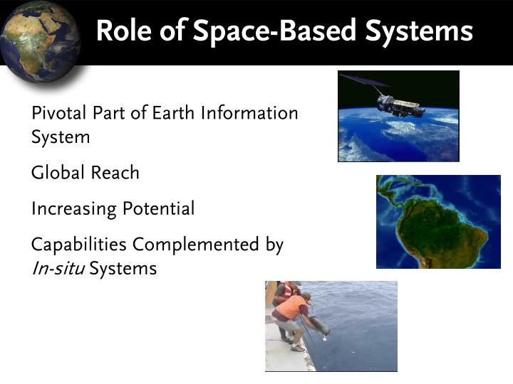Role of Space-Based Systems