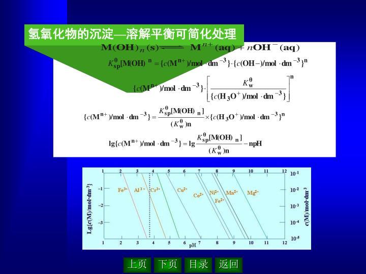 氢氧化物的沉淀—溶解平衡可简化处理