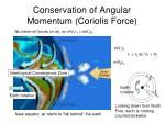 conservation of angular momentum coriolis force
