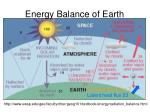 energy balance of earth