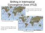 shifting in intertropical convergence zone itcz
