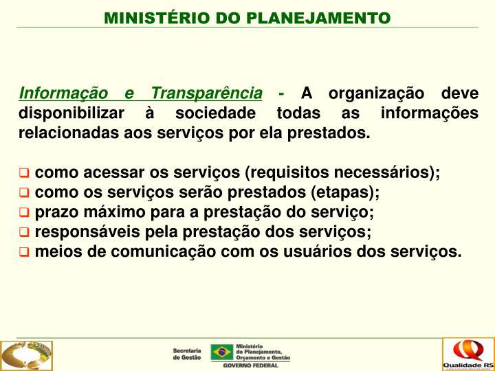 Informação e Transparência