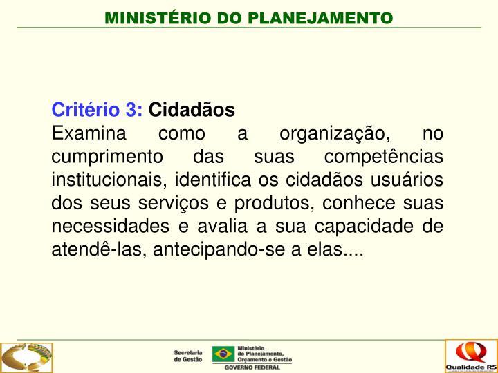 Critério 3:
