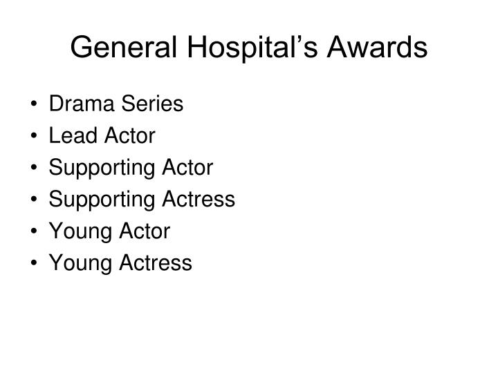 General Hospital's Awards