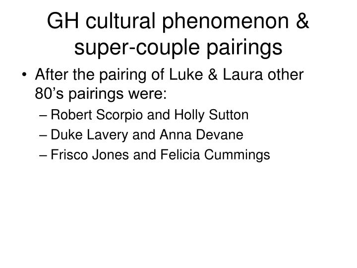 GH cultural phenomenon & super-couple pairings