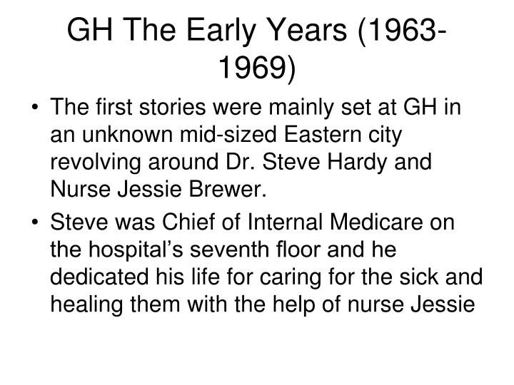 GH The Early Years (1963-1969)