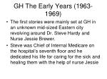 gh the early years 1963 1969