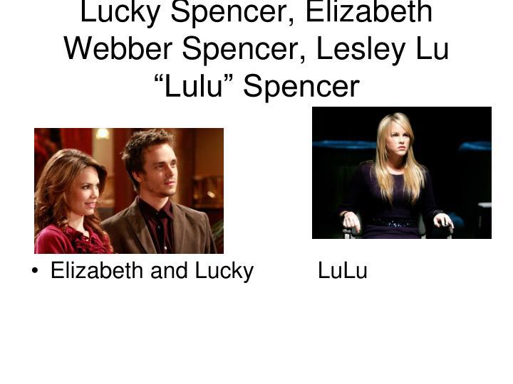 """Lucky Spencer, Elizabeth Webber Spencer, Lesley Lu """"Lulu"""" Spencer"""
