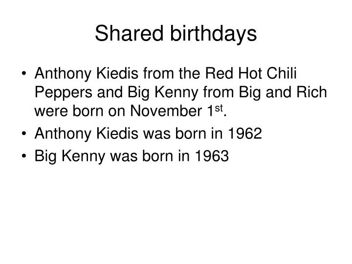 Shared birthdays