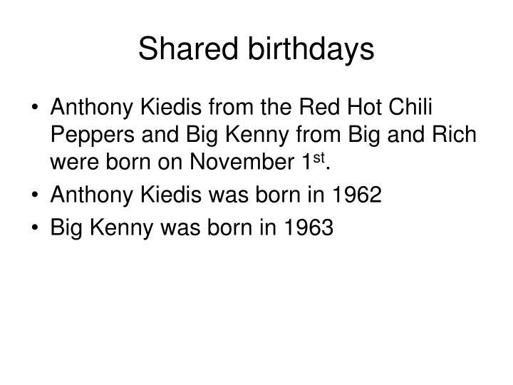 Shared birthdays