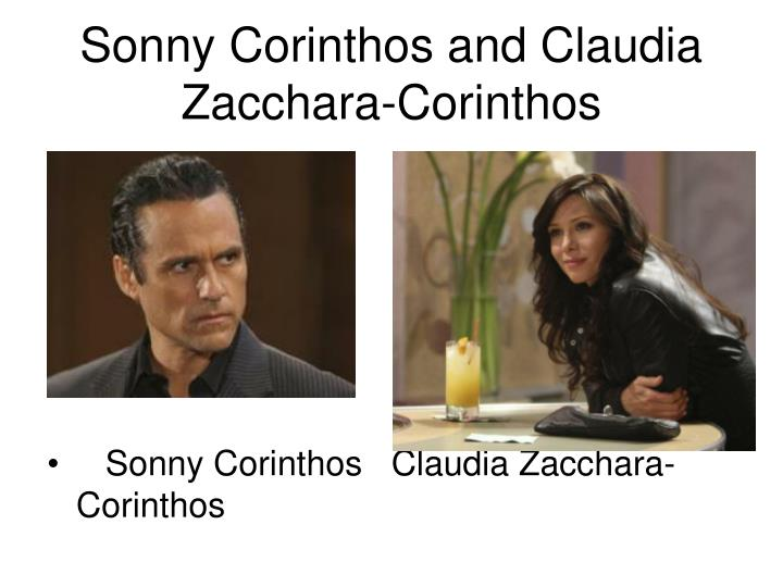 Sonny Corinthos and Claudia Zacchara-Corinthos