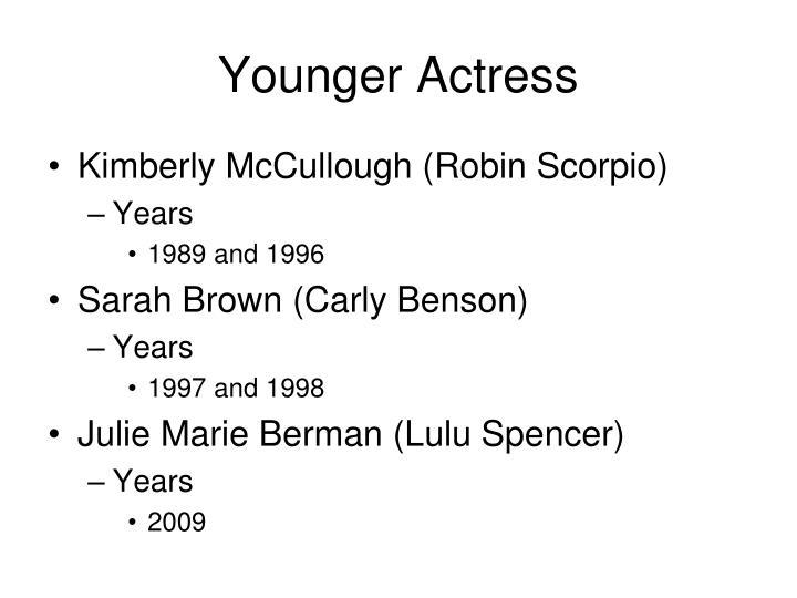 Younger Actress