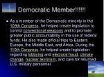 democratic member