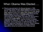 when obama was elected