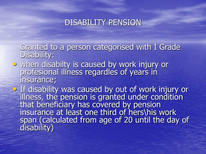 DISABILITY PENSION