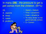in many 28 the pressure to get a pet comes from the children 91