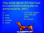 they simply did not 27 how much of a commitment looking after an animal would be 95