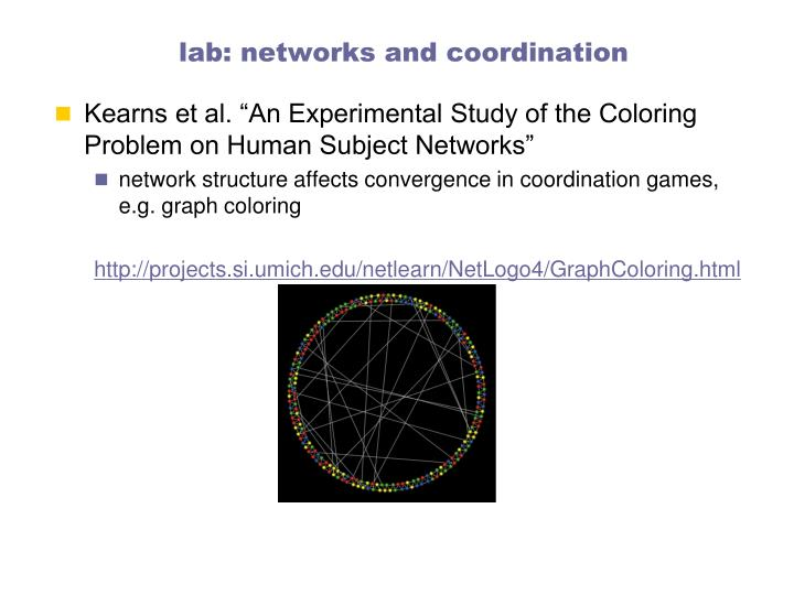 lab: networks and coordination
