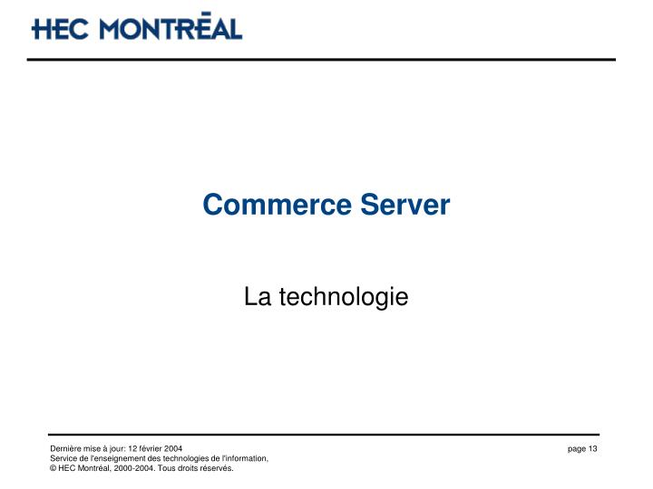 Commerce Server