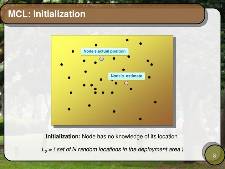 MCL: Initialization