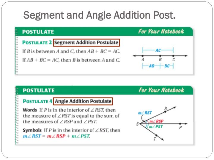 Segment and Angle Addition Post.