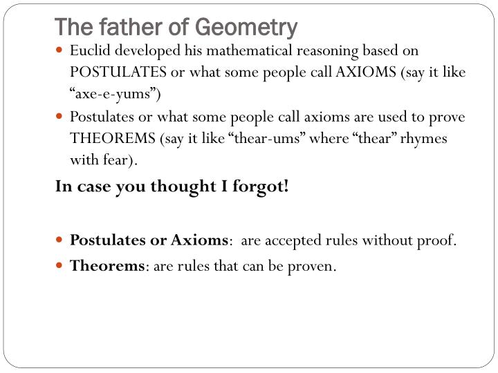 The father of Geometry