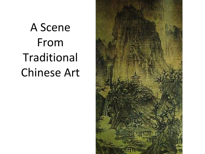 A Scene From Traditional Chinese Art