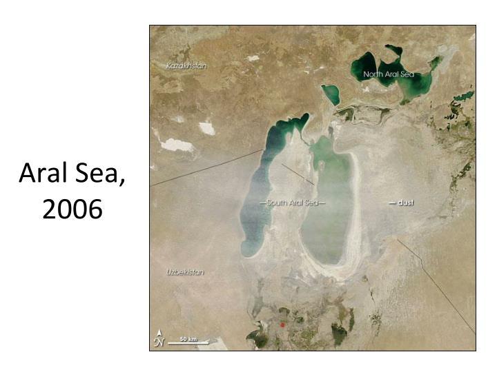 Aral Sea, 2006
