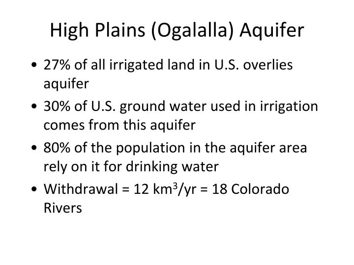 High Plains (Ogalalla) Aquifer
