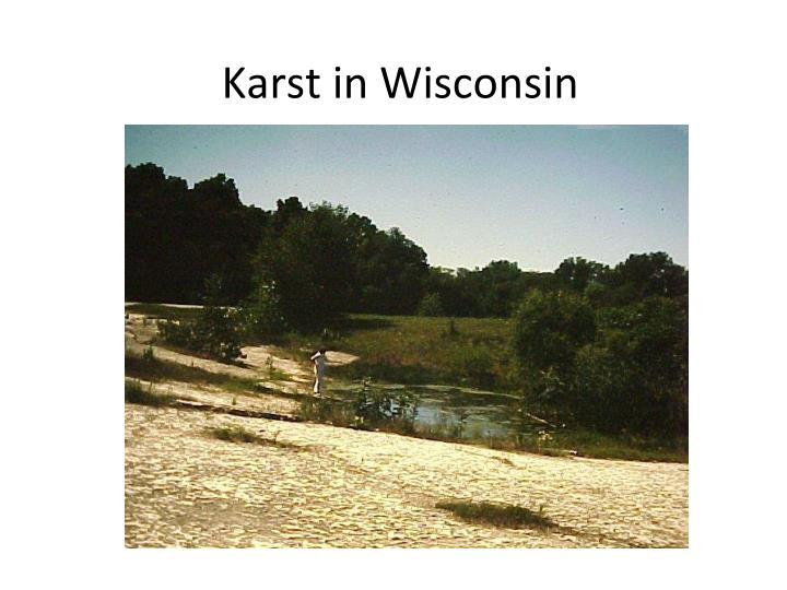 Karst in Wisconsin