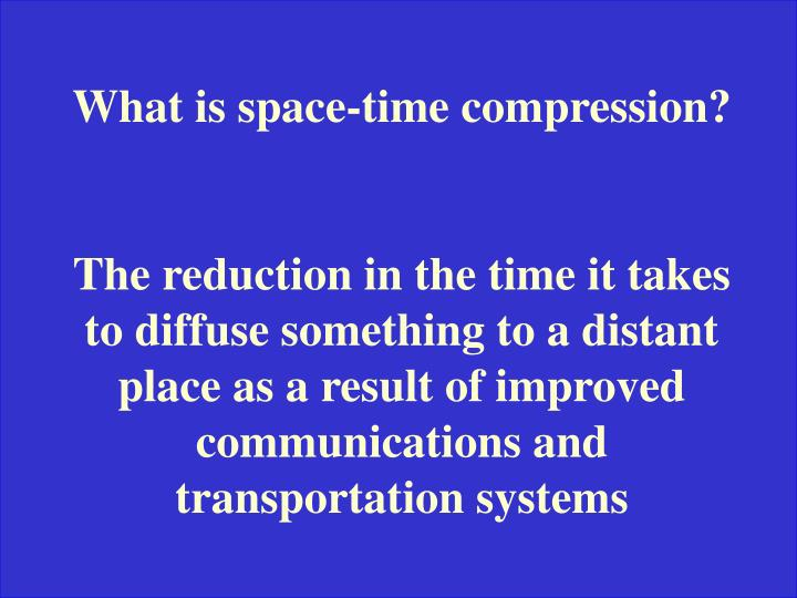 What is space-time compression?