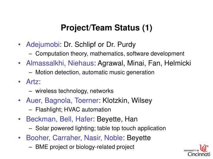 Project/Team Status (1)