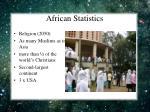 african statistics