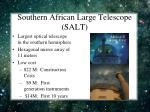 southern african large telescope salt