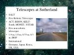 telescopes at sutherland