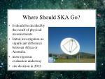 where should ska go
