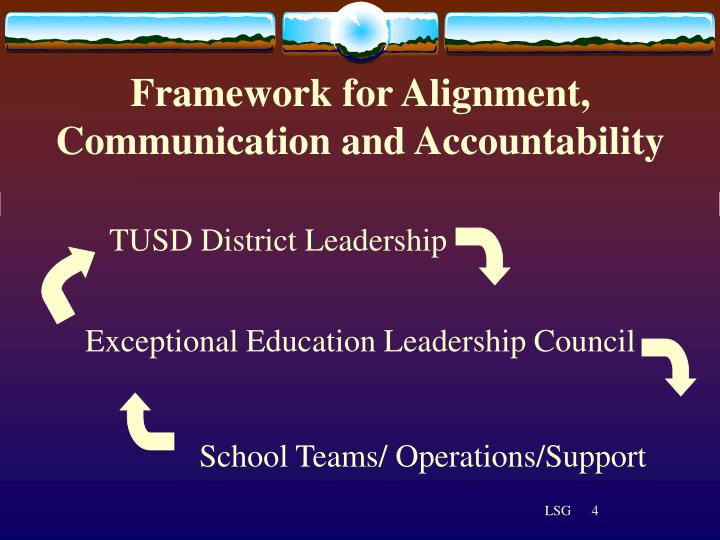 Framework for Alignment, Communication and Accountability