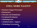 still more talent